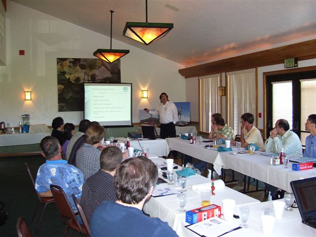 Conference room during 2007 technical presentations.