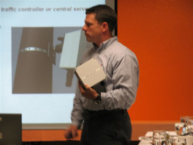 Matt Neeley, WSDOT, explains the 'nuts and bolts' of vehicle detection sensors.